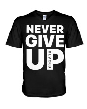 Moh-Salah-Never-Give-Up-Blackb-T-Shirt V-Neck T-Shirt thumbnail