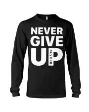 Moh-Salah-Never-Give-Up-Blackb-T-Shirt Long Sleeve Tee thumbnail