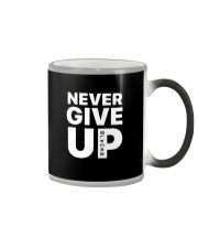 Moh-Salah-Never-Give-Up-Blackb-T-Shirt Color Changing Mug thumbnail