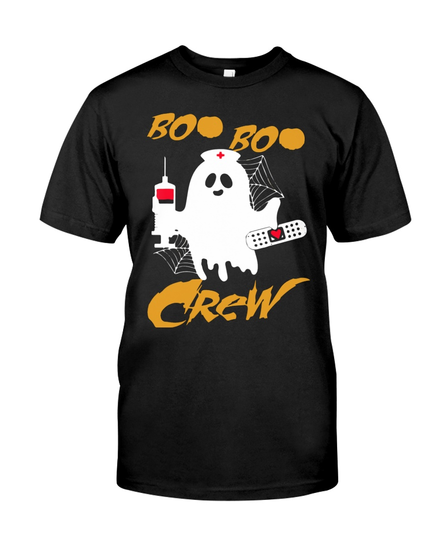 Boo Boo Crew Nurse Ghost  Halloween Shirt Classic T-Shirt