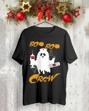 Boo Boo Crew Nurse Ghost  Halloween Shirt Classic T-Shirt lifestyle-holiday-crewneck-front-2