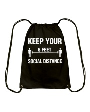 Keep Your Social Distance Cute Gift T-Shirt Drawstring Bag thumbnail