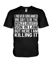 World's Greatest Son In Law Shirt V-Neck T-Shirt thumbnail