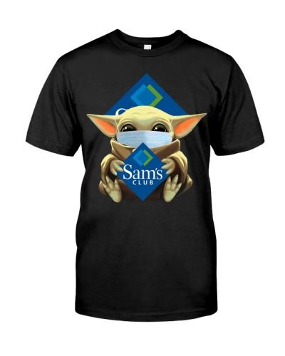 Baby Yoda Mask Hug Sams Club shirt