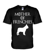 Mother Of Frenchies Dog Shirt For Gift V-Neck T-Shirt thumbnail