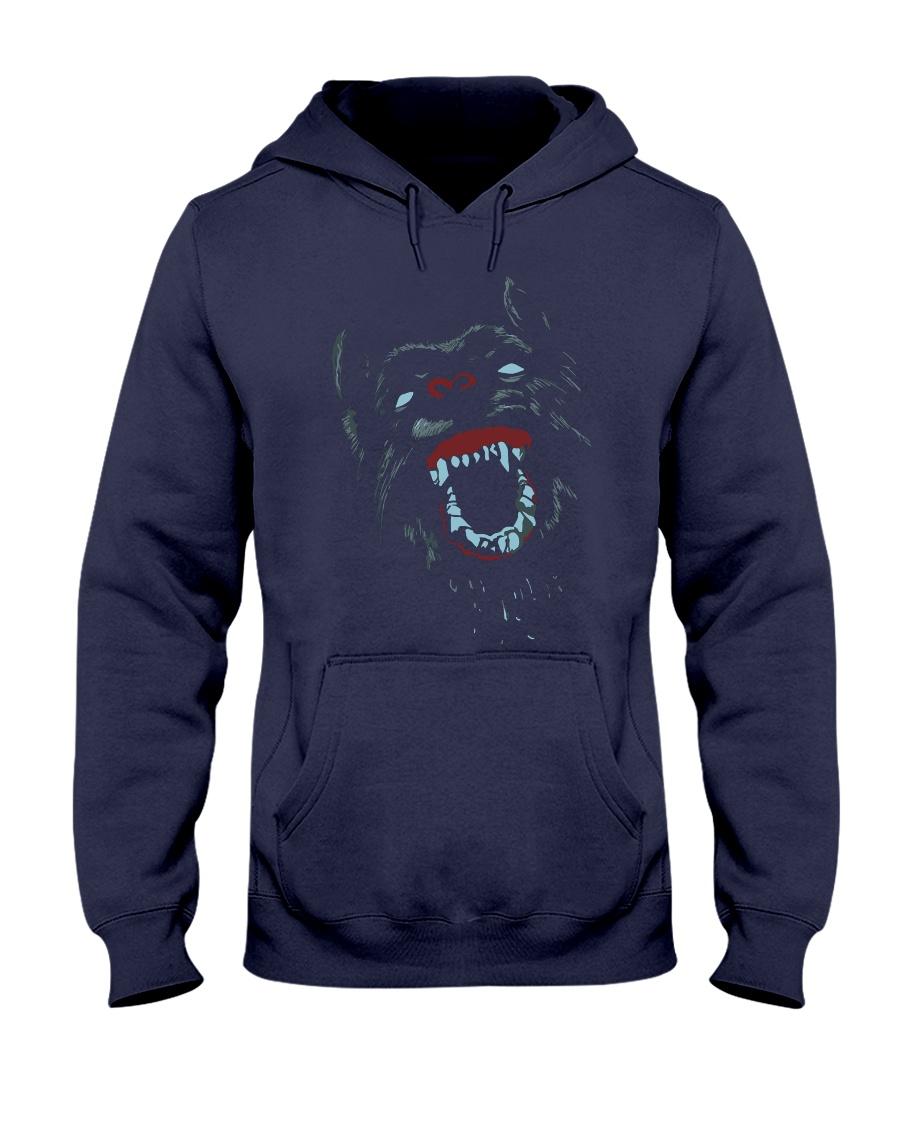 Colorfull Mad Dog Neon Cool T-shirt Hooded Sweatshirt