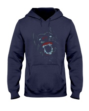 Colorfull Mad Dog Neon Cool T-shirt Hooded Sweatshirt front