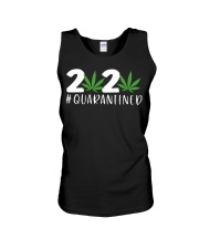 Cannabis Weed 2020 quarantined shirt Unisex Tank tile