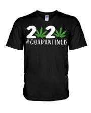 Cannabis Weed 2020 quarantined shirt V-Neck T-Shirt thumbnail