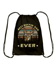 Best Buckin' Dad Ever Vintage T-shirt Drawstring Bag thumbnail