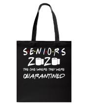 Seniors 2020 Toilet Paper Quarantined T-Shirt Tote Bag thumbnail
