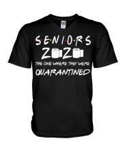 Seniors 2020 Toilet Paper Quarantined T-Shirt V-Neck T-Shirt thumbnail