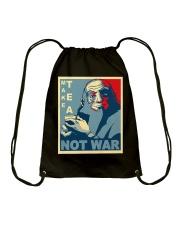 Anime Avatar Iroh - Make Tea Not War T-Shirt Drawstring Bag thumbnail