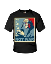 Anime Avatar Iroh - Make Tea Not War T-Shirt Youth T-Shirt thumbnail