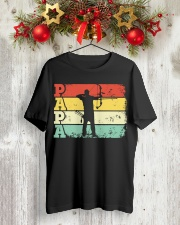 Archery Papa Shirt  Dad Father Gift T-Shirt Classic T-Shirt lifestyle-holiday-crewneck-front-2