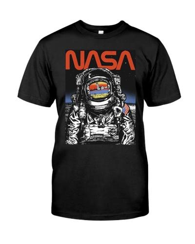 NASA Astronaut Moon Reflection  T-Shirt