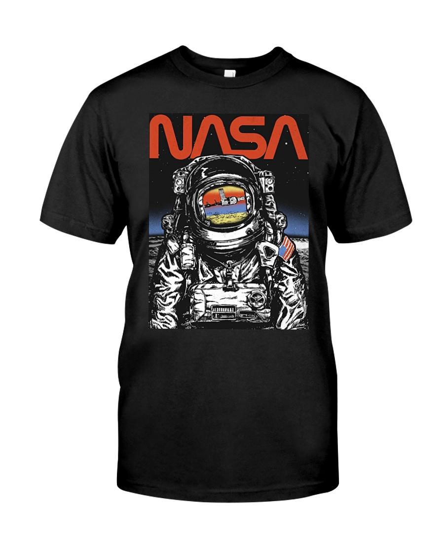 NASA Astronaut Moon Reflection  T-Shirt Classic T-Shirt