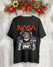 NASA Astronaut Moon Reflection  T-Shirt Classic T-Shirt lifestyle-holiday-crewneck-front-2
