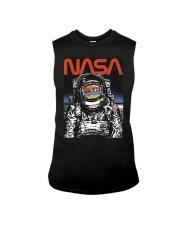NASA Astronaut Moon Reflection  T-Shirt Sleeveless Tee thumbnail