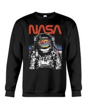 NASA Astronaut Moon Reflection  T-Shirt Crewneck Sweatshirt thumbnail