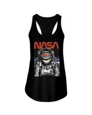 NASA Astronaut Moon Reflection  T-Shirt Ladies Flowy Tank thumbnail
