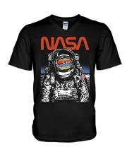 NASA Astronaut Moon Reflection  T-Shirt V-Neck T-Shirt thumbnail