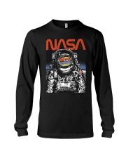 NASA Astronaut Moon Reflection  T-Shirt Long Sleeve Tee thumbnail
