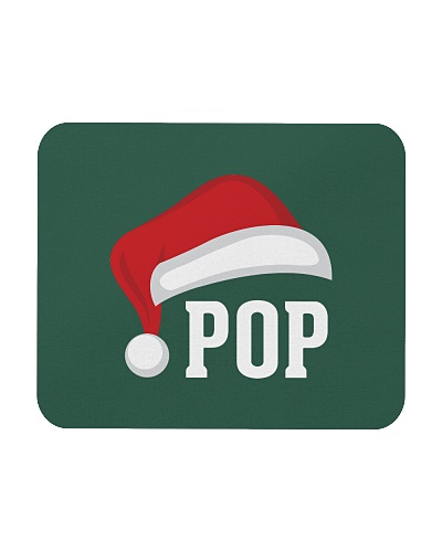 Pop  Santa Hat Grandparent Christmas Holiday