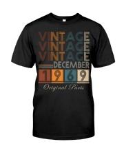 Vintage Dec 69 Classic T-Shirt front