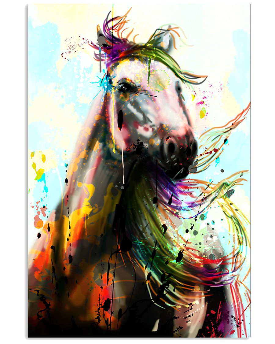 Horse Water Color Art P3 24x36 Poster