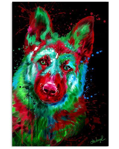 German Shepherd Water Color Art A20