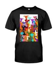 Greyhound Multi-dog A10 Classic T-Shirt thumbnail