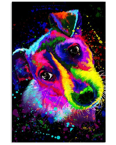 Jack Russell Water Color Art Splash ZX78