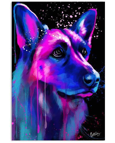 German Shepherd Water Color Art Flow Y30