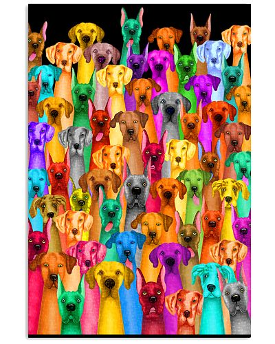 Great Dane Multi-dog Colorful Art