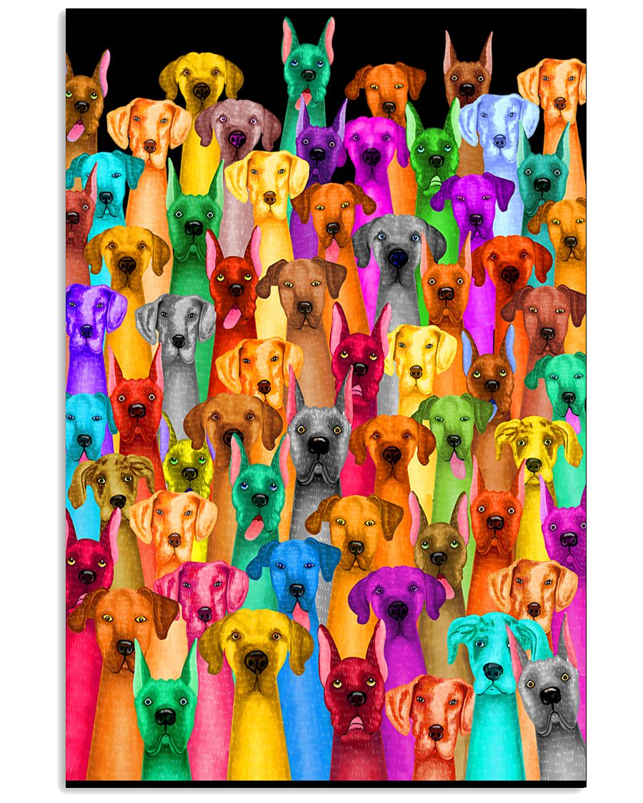 Great Dane Multi-dog Colorful Art 24x36 Poster