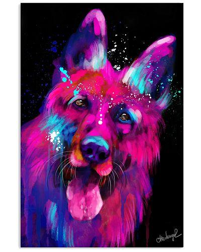 German Shepherd Water Color Art N20