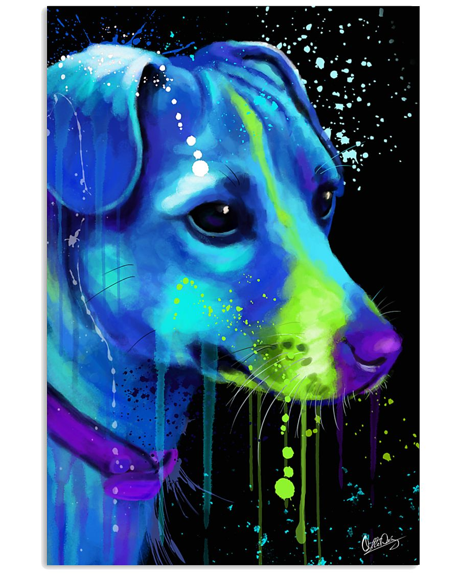 Jack Russell Water Color Art Flow AS12 24x36 Poster