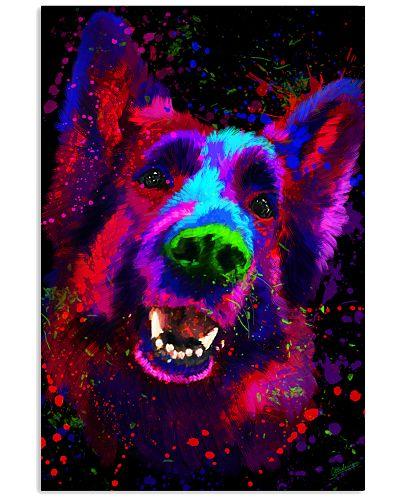 German Shepherd Water Color Art Splash B20