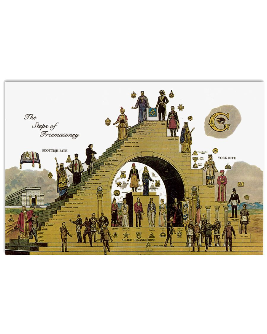 The Steps of Freemasonry poster 17x11 Poster