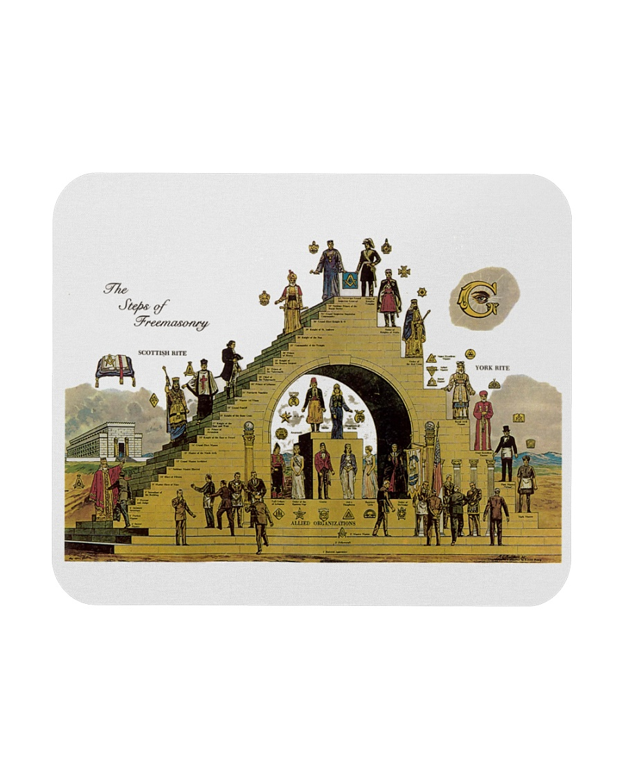 The Steps of Freemasonry poster Mousepad