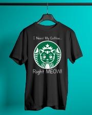 I Need My Coffee - Cat Starbucks Classic T-Shirt lifestyle-mens-crewneck-front-3