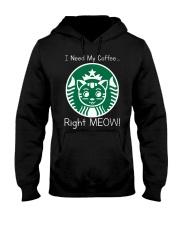 I Need My Coffee - Cat Starbucks Hooded Sweatshirt thumbnail