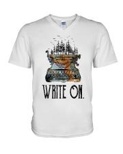 Write On V-Neck T-Shirt thumbnail