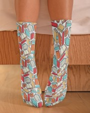 Book Lover Crew Length Socks aos-accessory-crew-length-socks-lifestyle-front-02