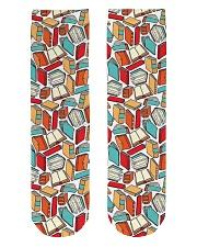 Book Lover Crew Length Socks front