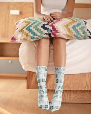 Book Lover Crew Length Socks aos-accessory-crew-length-socks-lifestyle-front-01