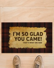 """That's What She Said Doormat 28"""" x 17"""" aos-doormat-28-x-17-lifestyle-front-02"""