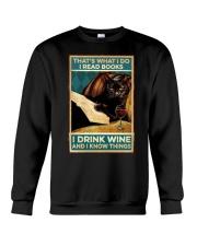 I read books and know things Crewneck Sweatshirt thumbnail