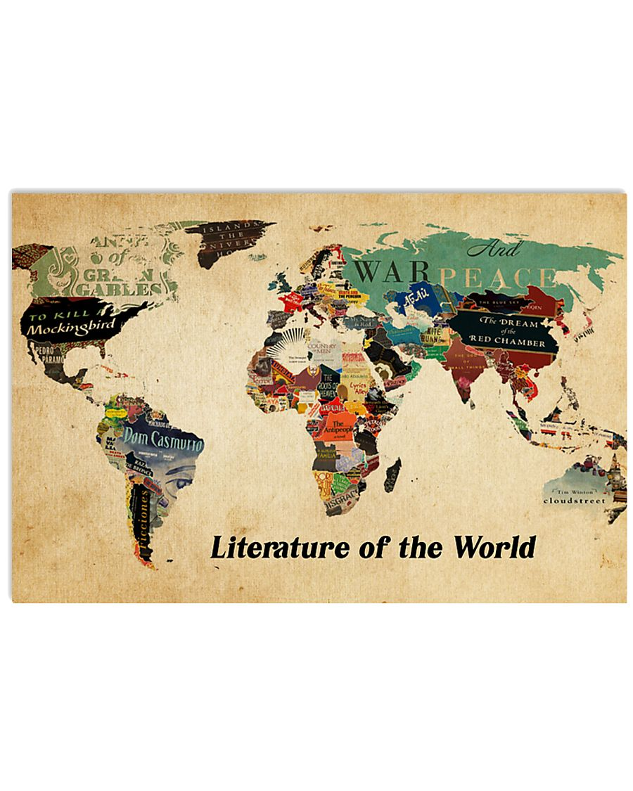 Literature of the world 36x24 Poster